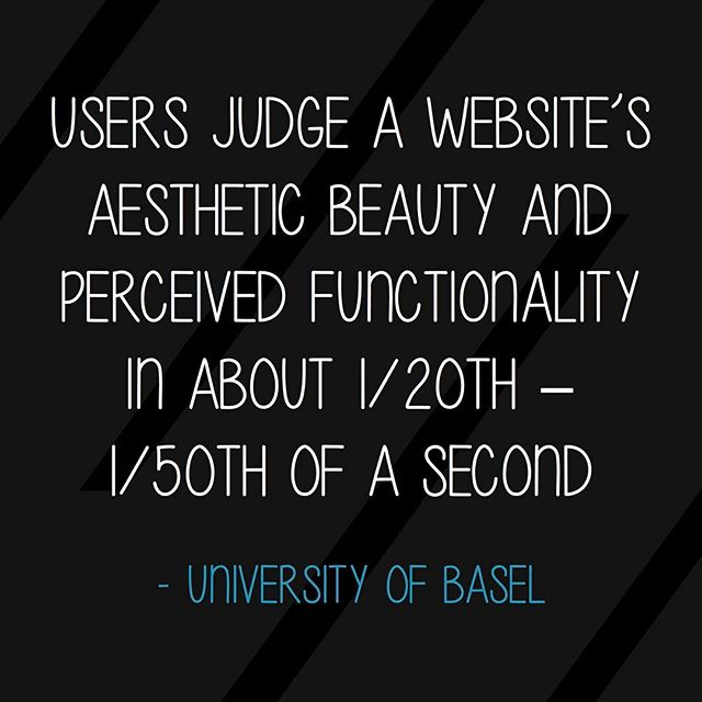 Users judge a website's aesthetic beauty and perceived functionality in about 1/20th - 1/50th of a second #designstat