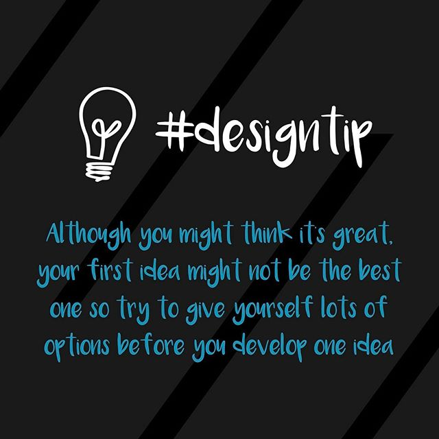 Don't stick to your first idea 💡 #designtip