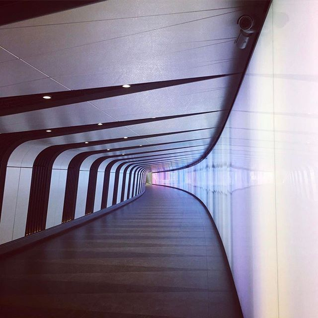 Stumbled across this new tunnel with an integrated lightwall on our way to a meeting #lightwall