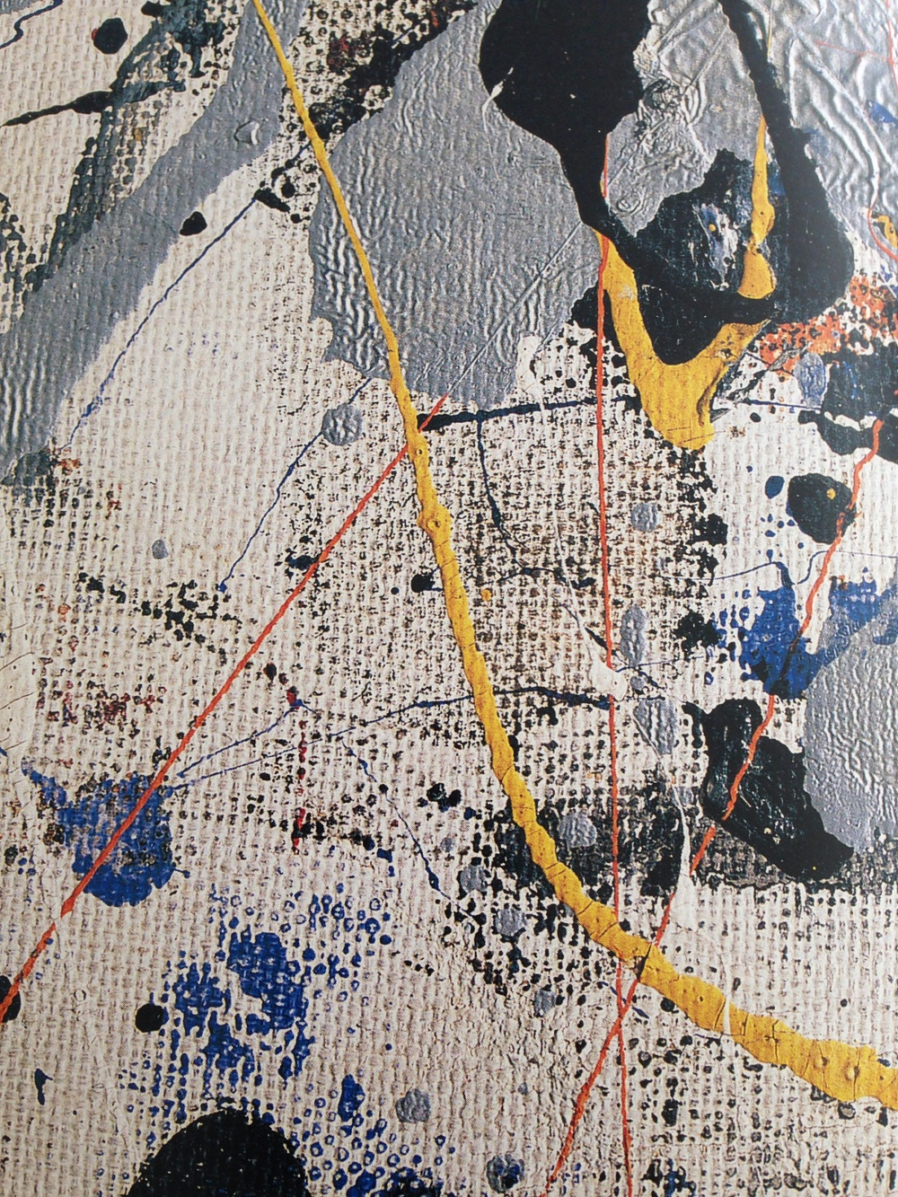 detail from Blue Poles