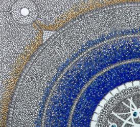 Detail of Indra's Net II, in progress| © Beth Ortman Studio