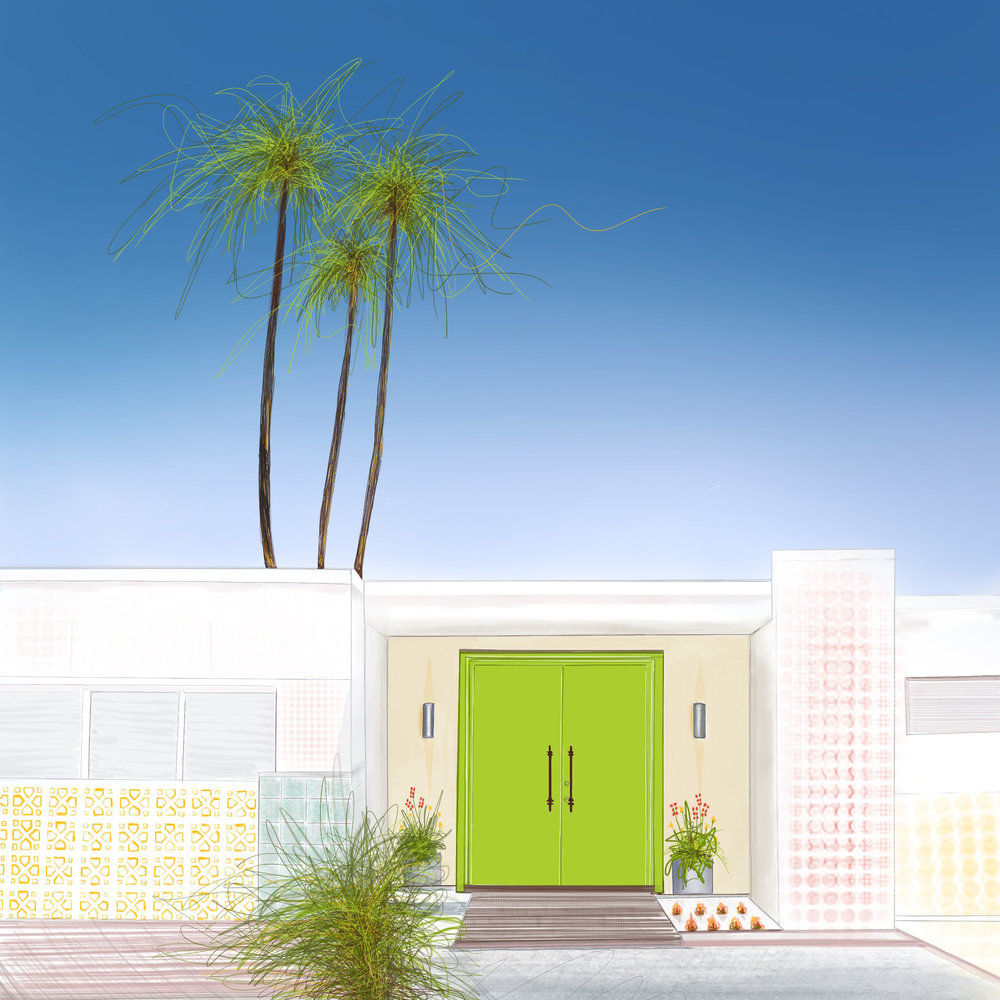 Door Tour, Green Door: Palm Springs, CA