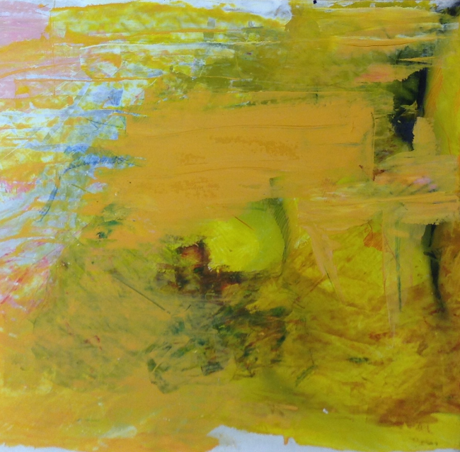 abstract yellow/pink