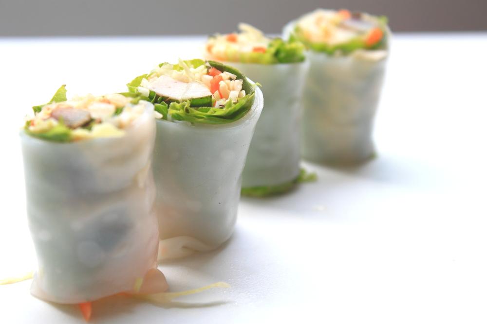 Vietnamese summer roll canapé