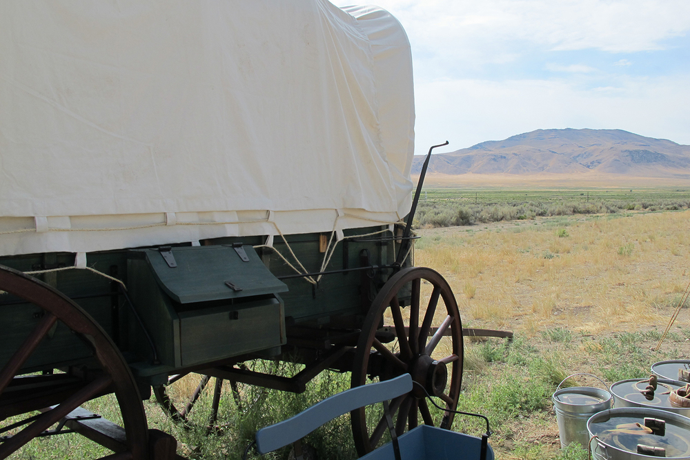 California Trail wagon replica