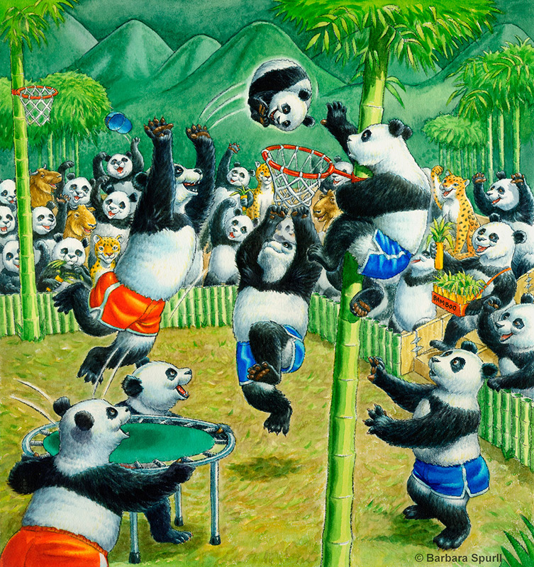 Imagine…If Pandas Played Basketball