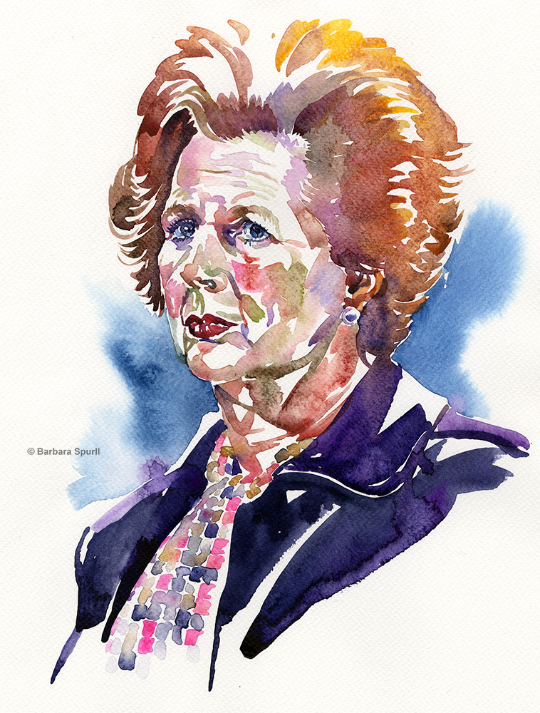 Margaret Thatcher by Barbara Spurll