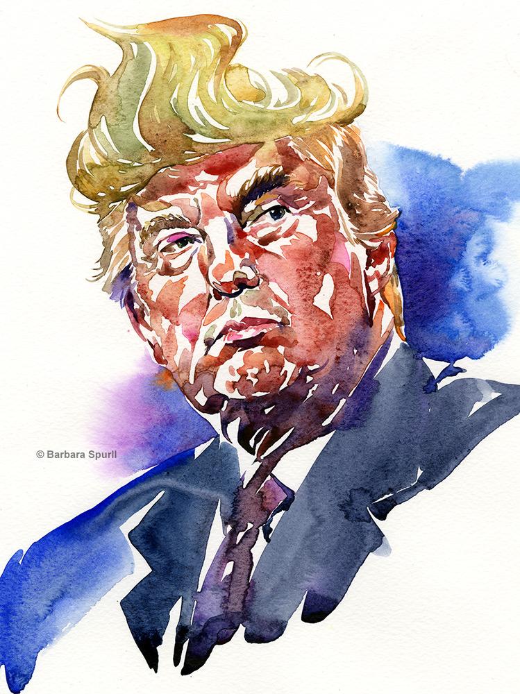 Donald Trump by Barbara Spurll