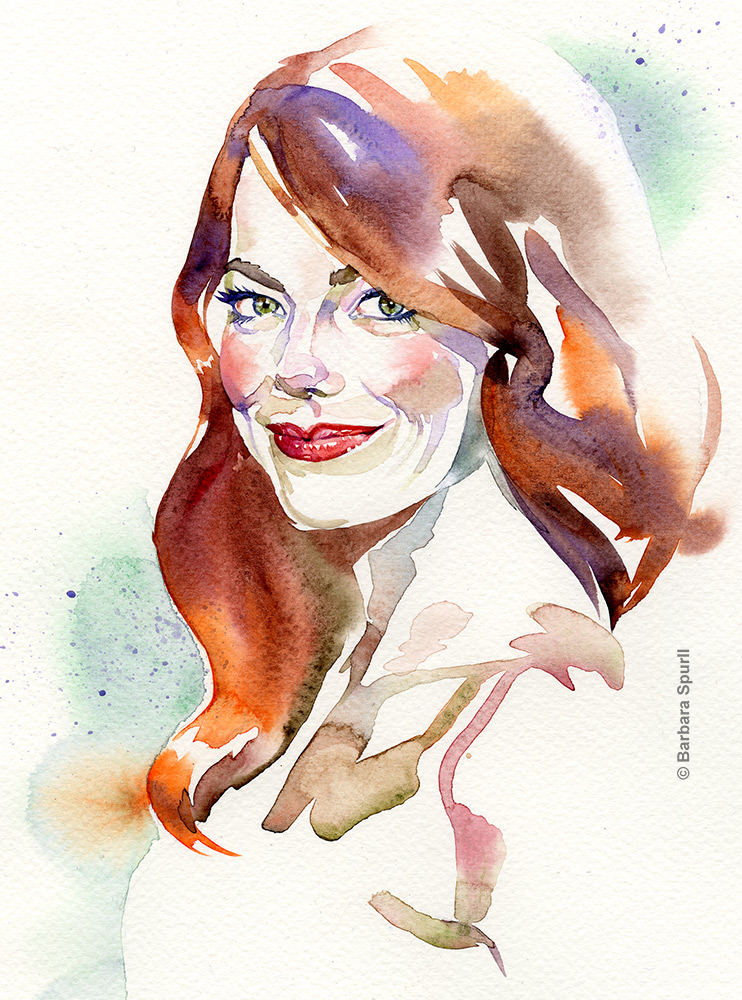 Emma Stone by Barbara Spurll