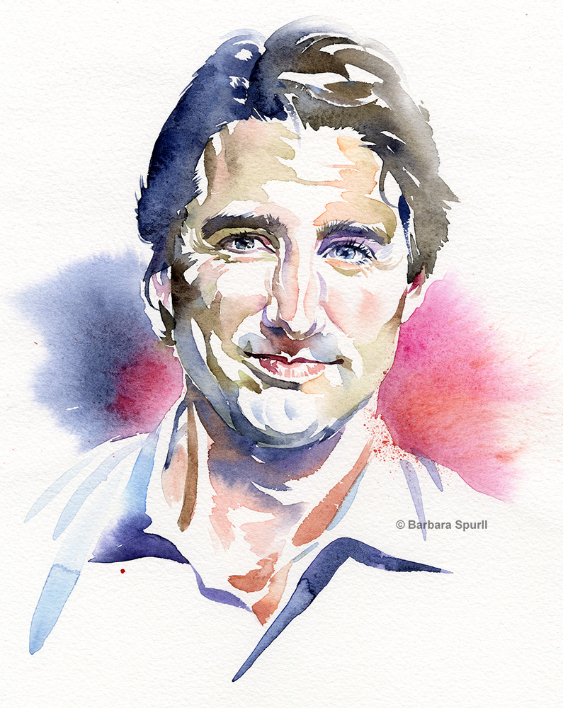 Justin Trudeau by Barbara Spurll