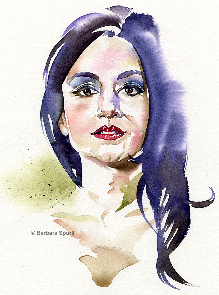 Archie Panjabi by Barbara Spurll