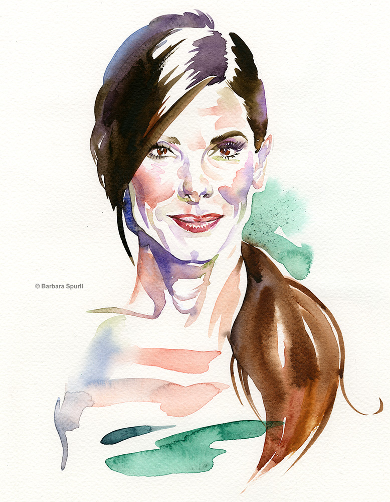 Sandra Bullock by Barbara Spurll