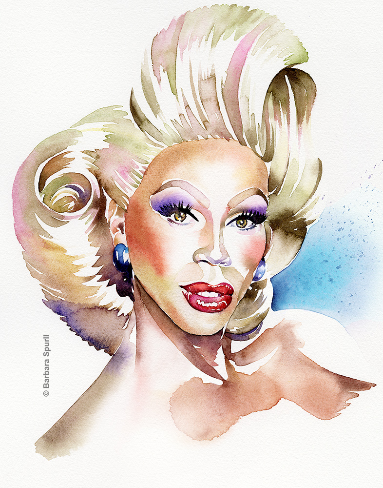 RuPaul by Barbara Spurll