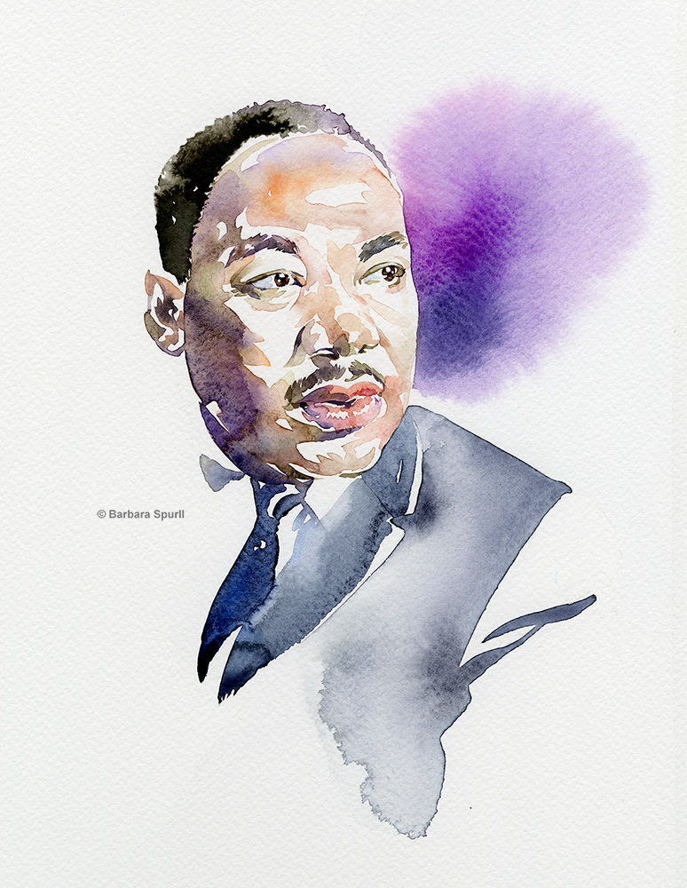 Martin Luther King Jr. portrait by Barbara Spurll