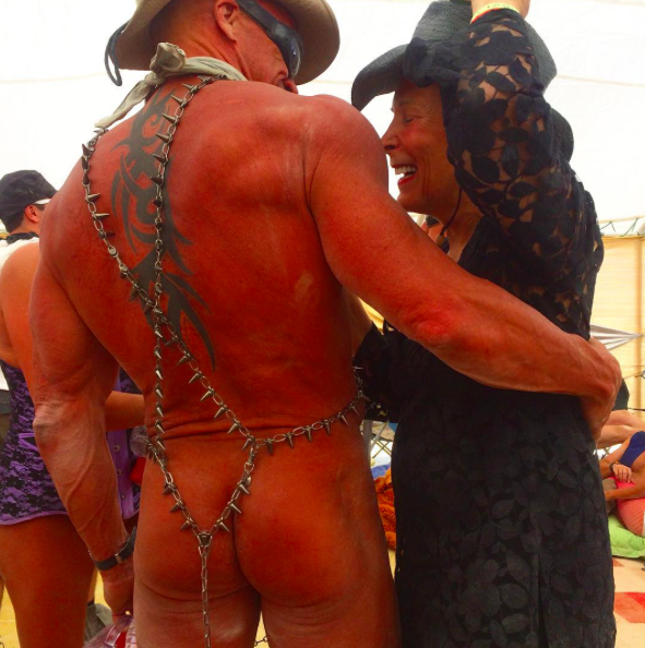 "THAT""S MY MOM AT BURNING MAN"