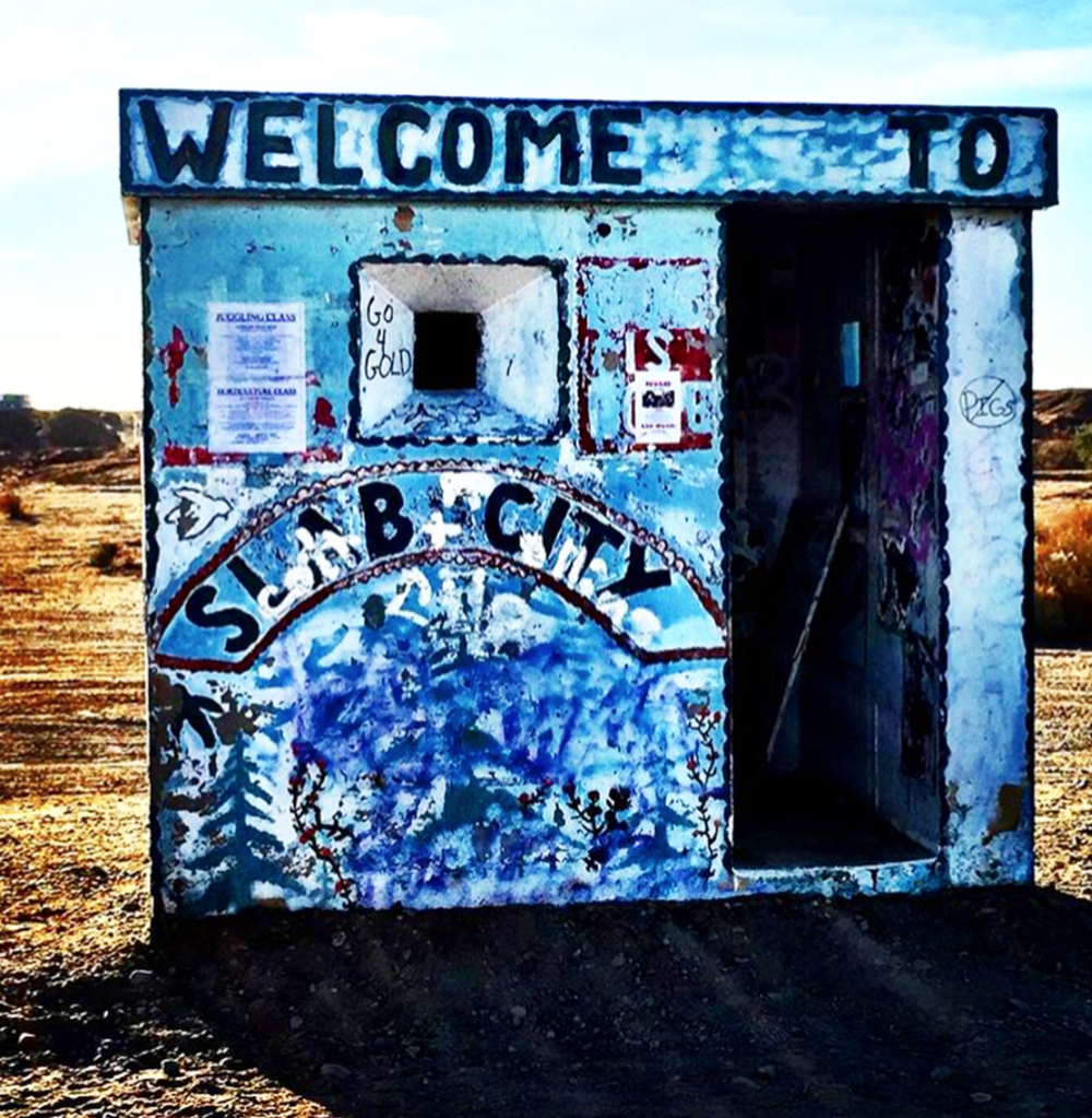 This is the entry to Slab City and also where I met the four tweens selling Lemonade to visitors to Salvation Mountain