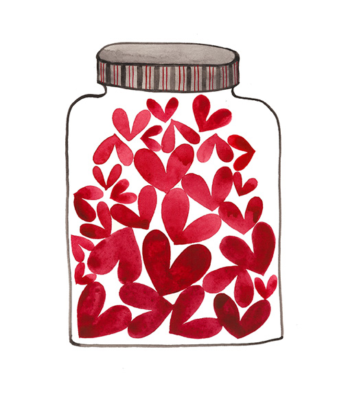 Jar of Love No. 42, watercolor on paper, Golly Bard | Holly Ward Bimba © all rights reserved