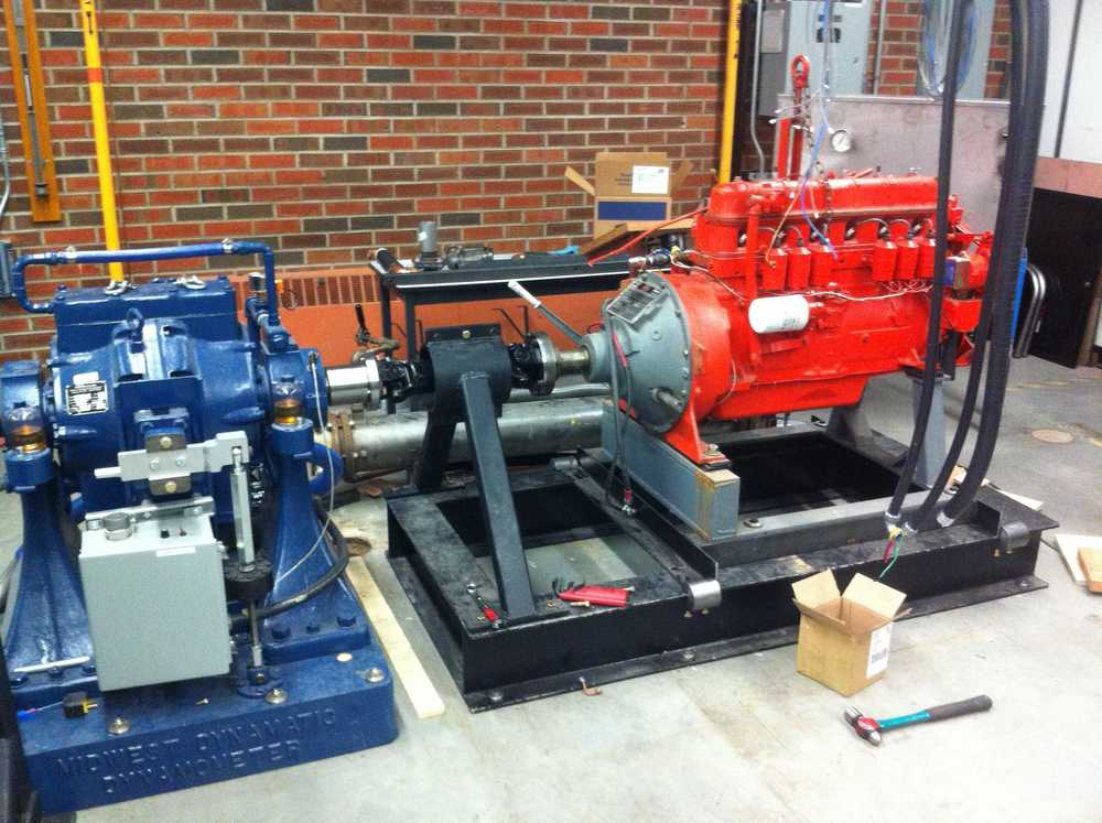 Commissioning and tuning the dyno with a Waukesha engine.