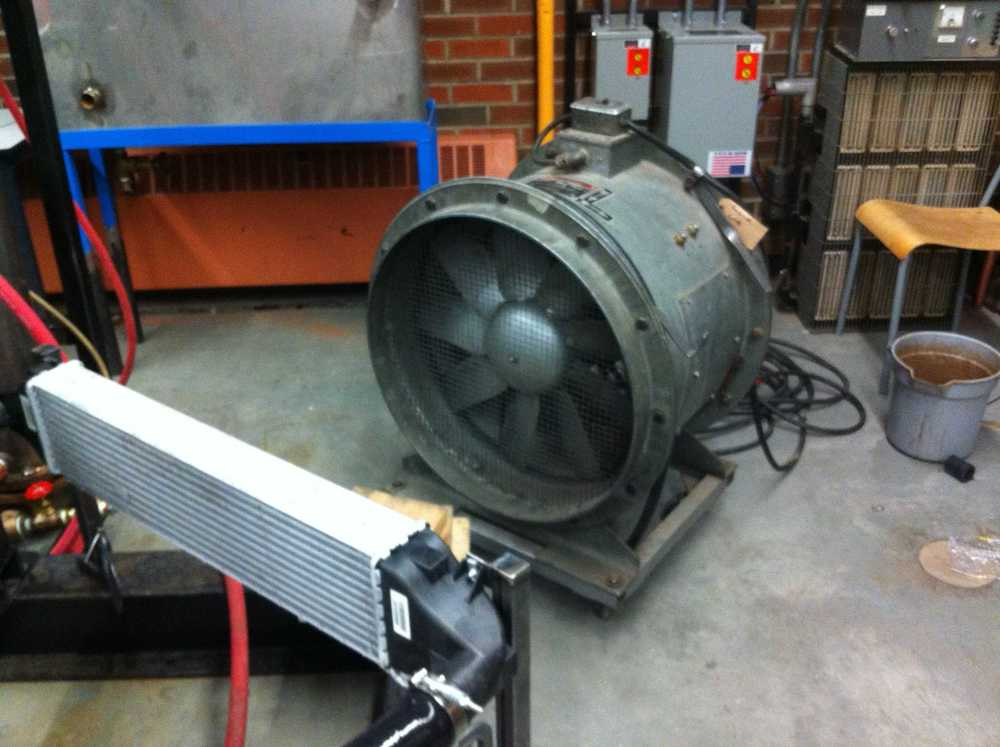 Fan to be used on intercooler.