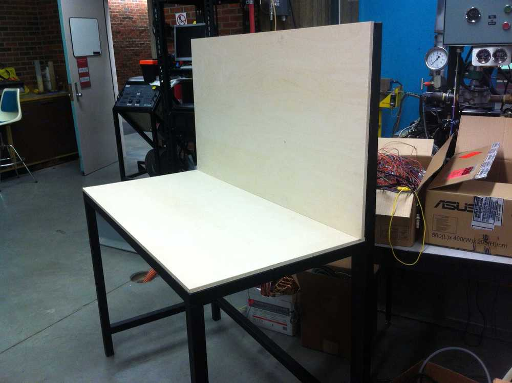 In-house made table for fuel system.