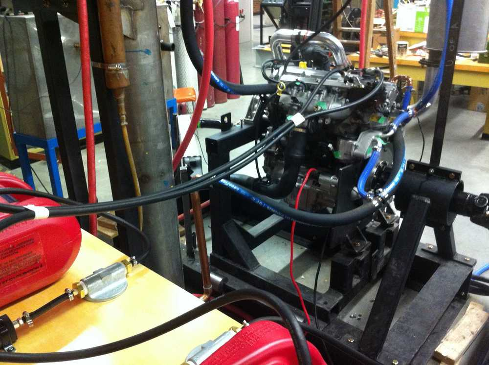Fuel lines to the port and direct injectors.