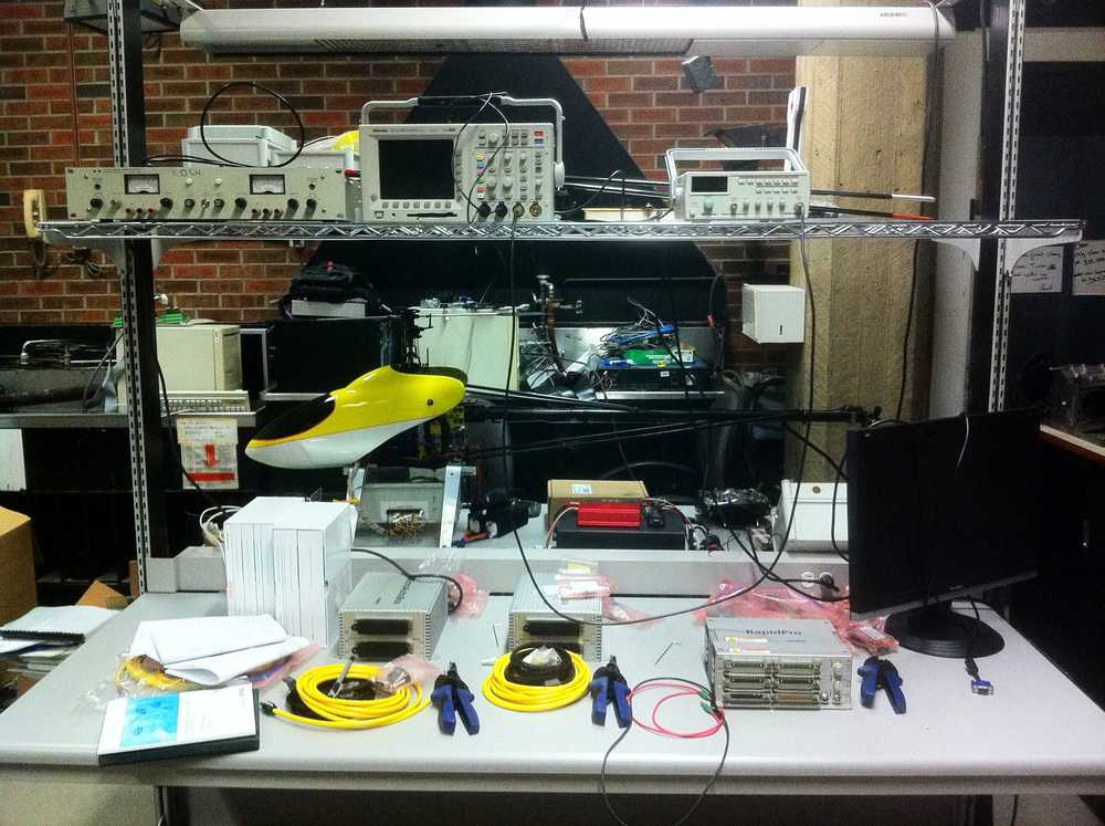 Lab setup for testing and learning.