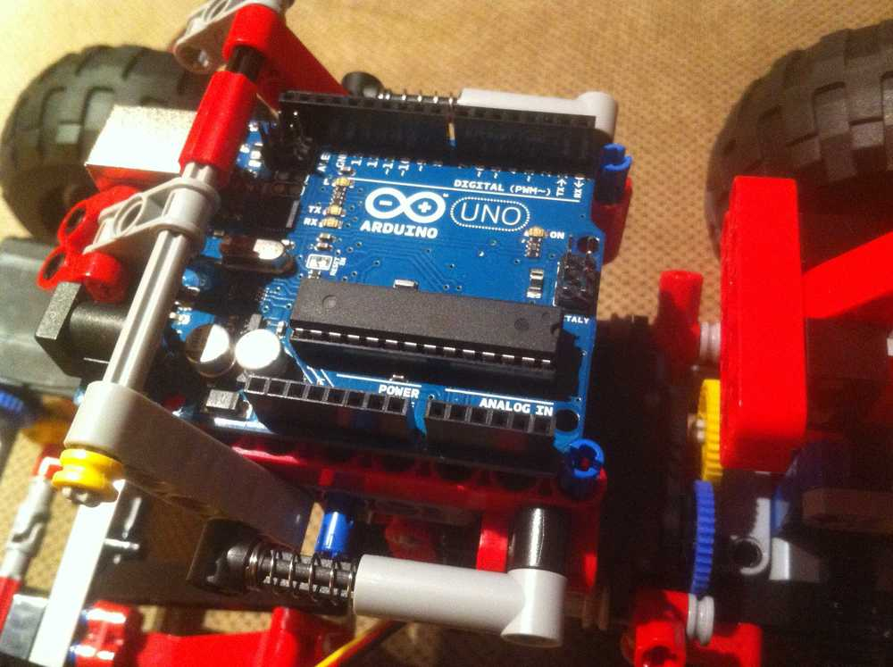 Close up of arduino uno