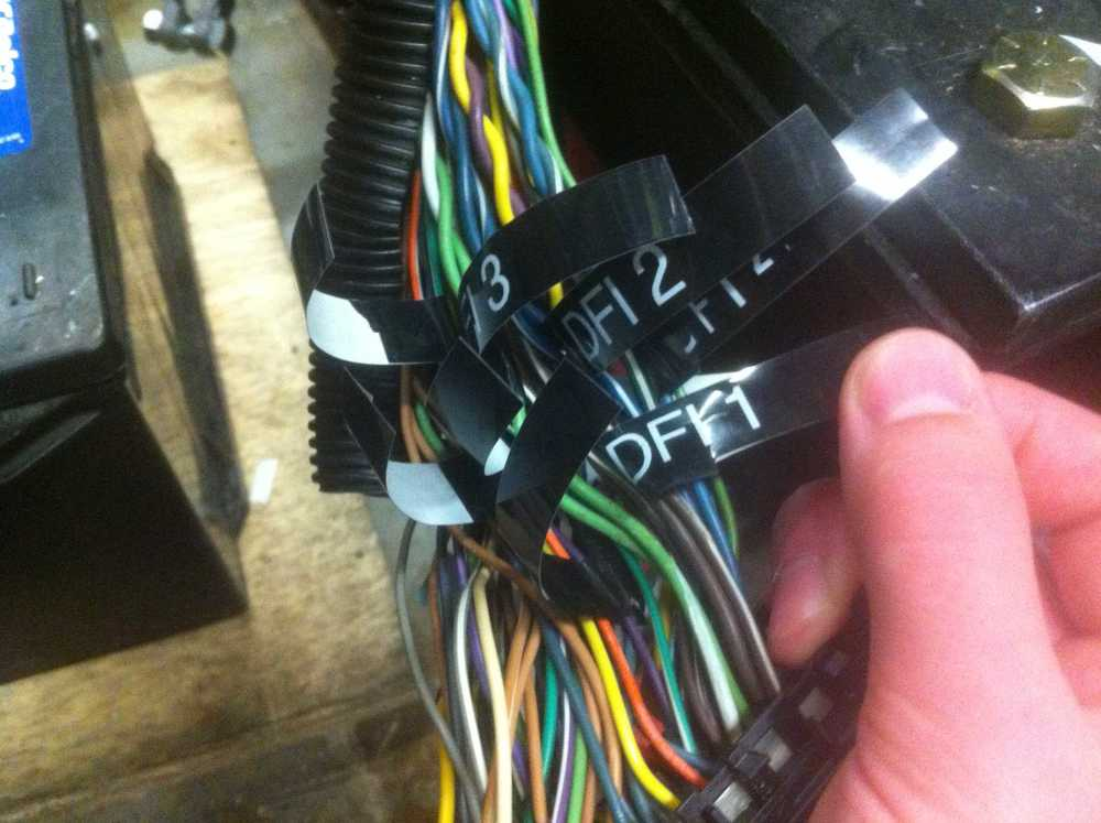 Labeling injection, ignition, and timing wires.