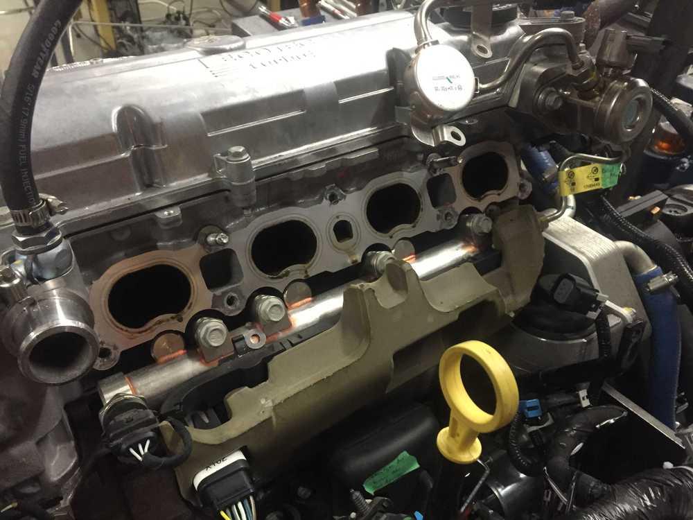 Intake manifold removed.