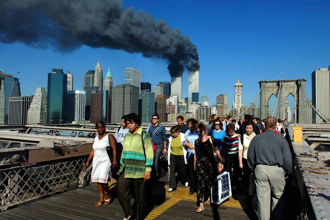 Iconic images from 9/11/2001        http://newyork.cbslocal.com/photo-galleries/2013/09/10/iconic-images-from-91101/