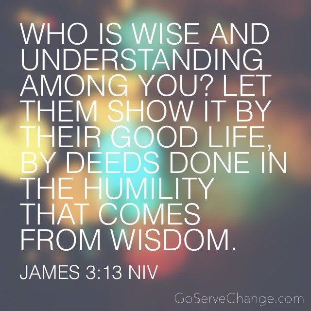 Who is wise and understanding among you? Let them show it by their good life, by deeds done in the humility that comes from wisdom.     James 3:13 NIV  #BeGoodDoGood