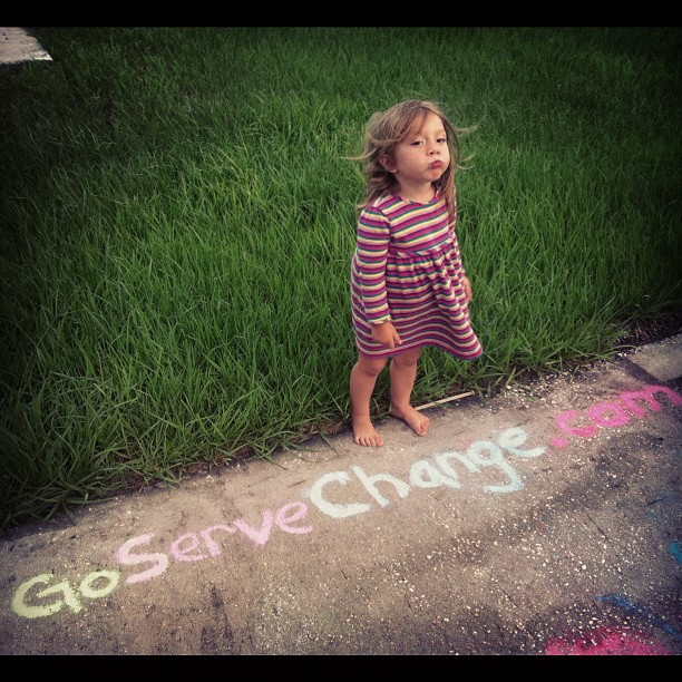 madisonsaige :     Saige allowed me to take one picture to advertise our new site link   http://GoServeChange.com   @iconnectglobal  (Taken with  Instagram  at Chapel Pines)     @Javi_mendoza daughter Saige Advertising Connect Global.