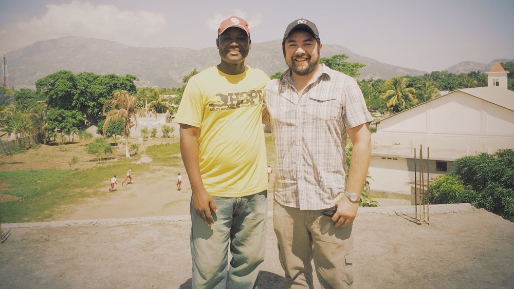 Julio Jn Gilles and Javier Mendoza in Madeline Haiti