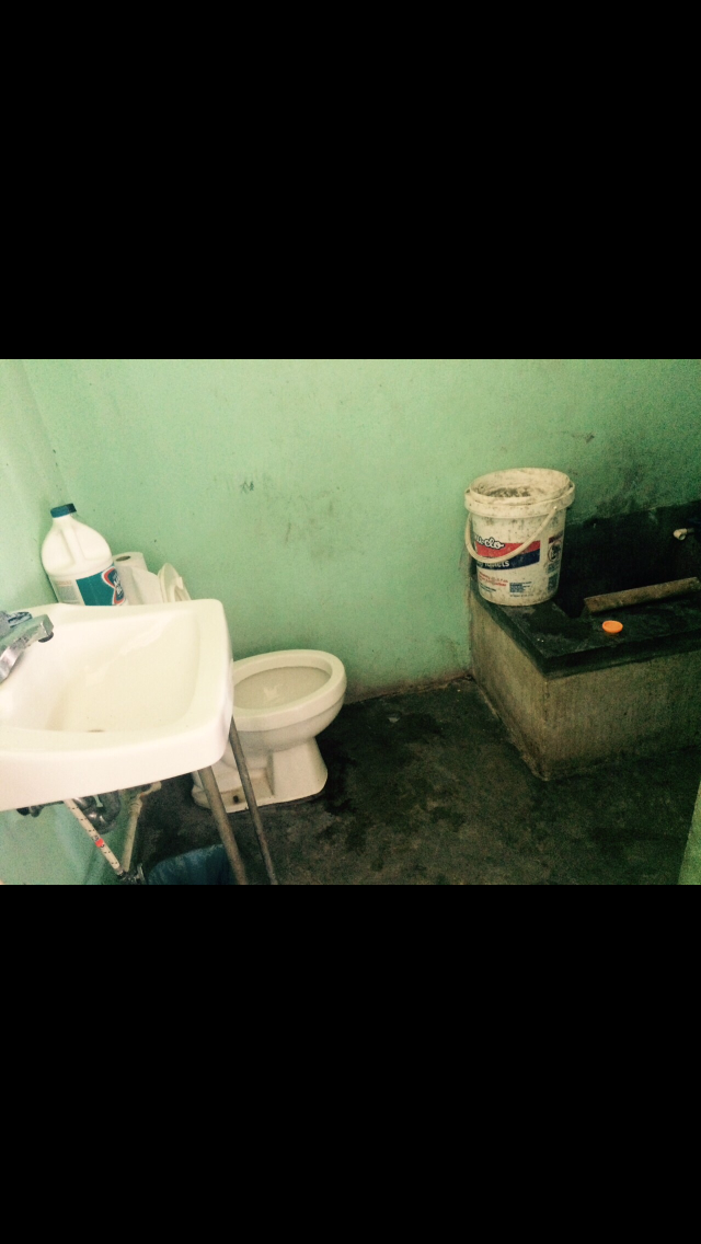 The Bathrooms at DINAF were unsanitary, hazardous, and in need of consistent running water.