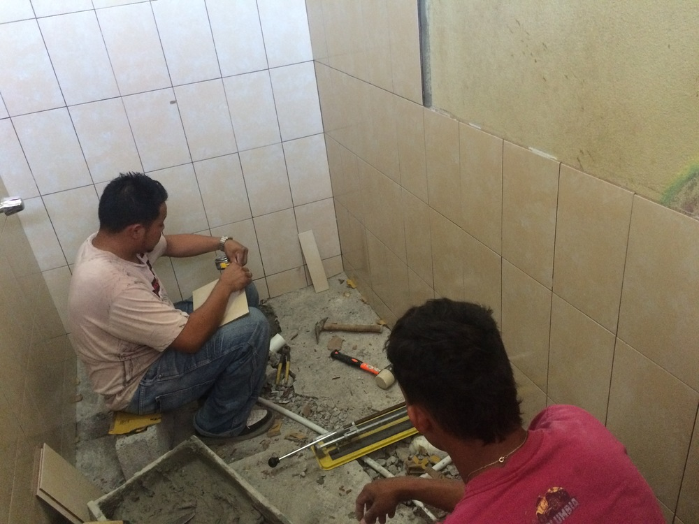 Team of Workers Started renovation in Late March 2015