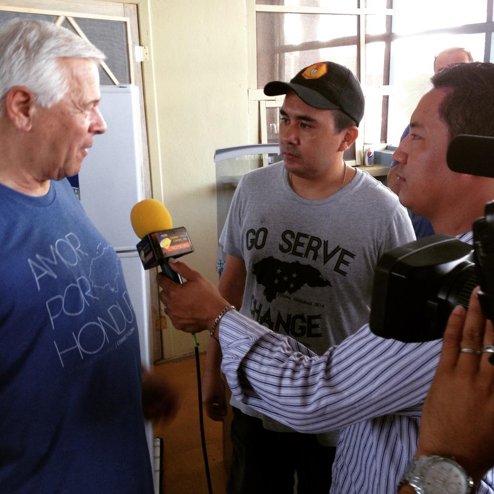 Dr Russ Frase in La Ceiba