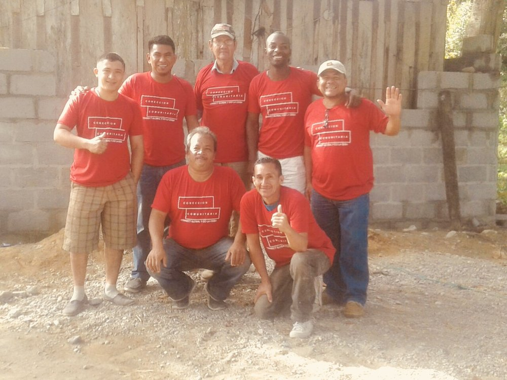 The team of volunteers including our own National Director Jorge Amador who have been Working on Maria's Home.