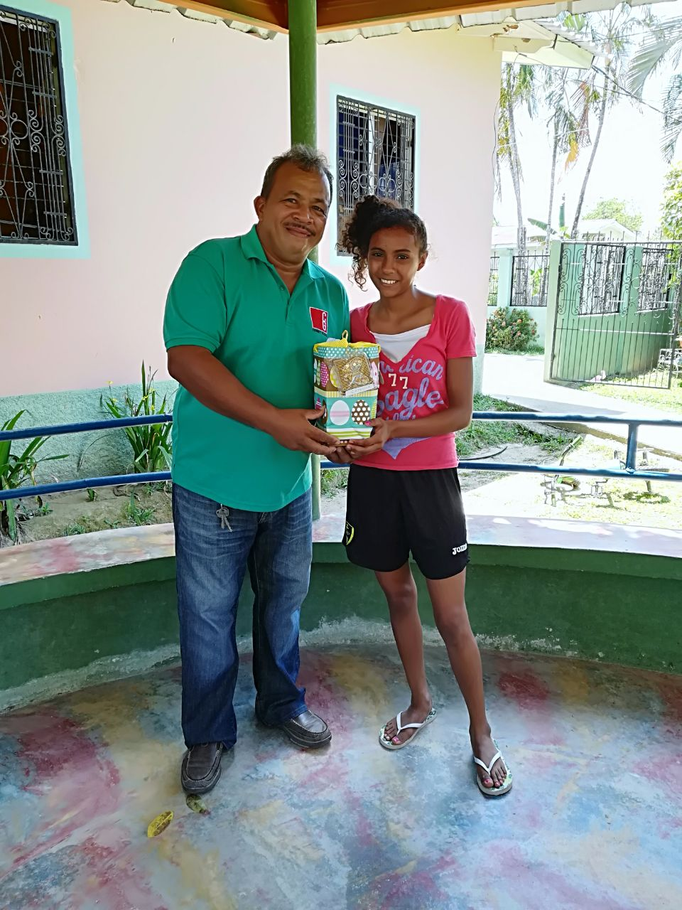 Connect Global National Director in Honduras, Jorge Amador, sharing easter baskets with the Kids from Little Lambs Refuge in La Masica, Honduras.