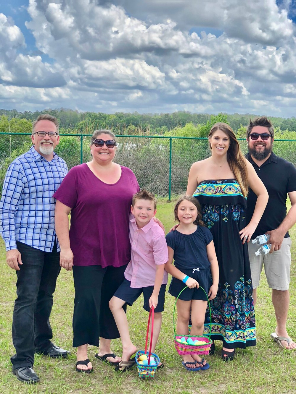 Travis, Gina, & Noah Moffitt with Javier, Danielle, & Saige Mendoza, Co Founders of Connect Global, enjoying Easter Sunday in Florida