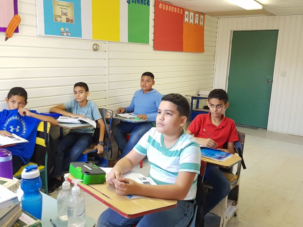 Kids are back to class in La Ceiba, Honduras