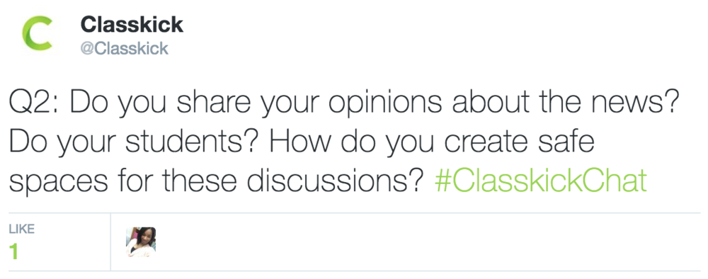 Classkick @Classkick Q2: Do you share your opinions about the news?