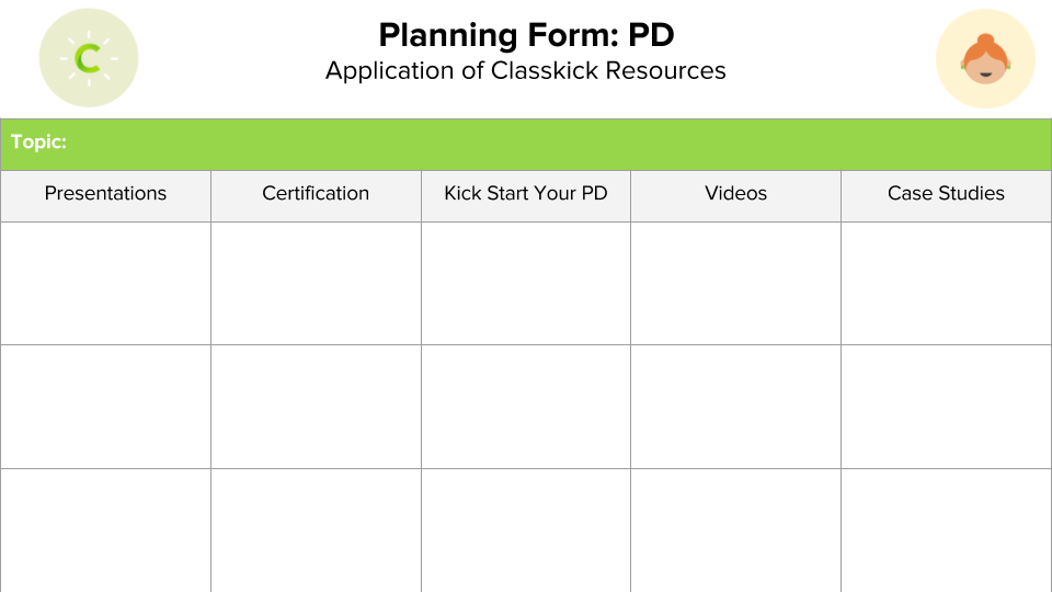 Planning Form: PD