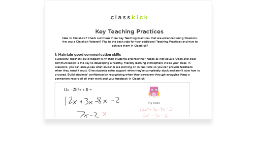Key Teaching Practices