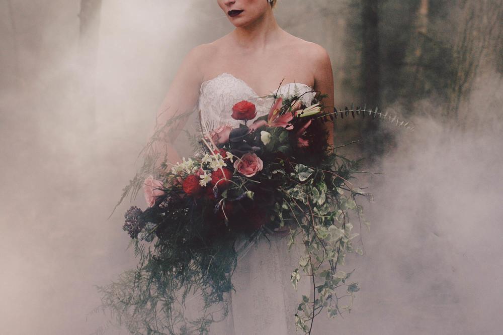 burlington vermont engagement bride wild boho bouquet