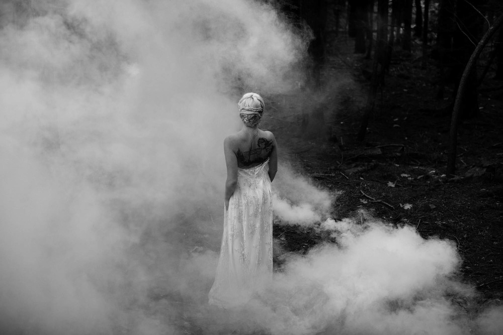 vermont woods bride sarah seven