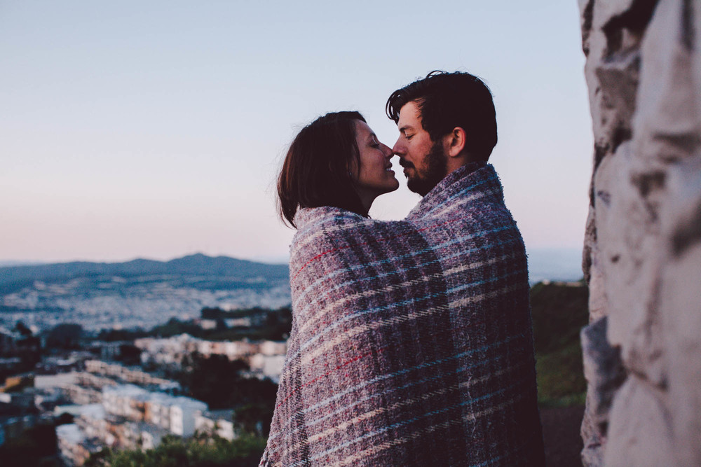 sunrise engagement twin peaks san francisco