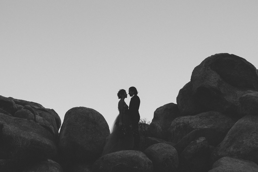 The ruin joshua tree yucca valley desert elopement wedding