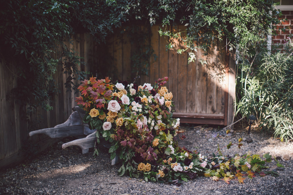stonewall-ranch-malibu-boho-wedding-floral wheelbarrow