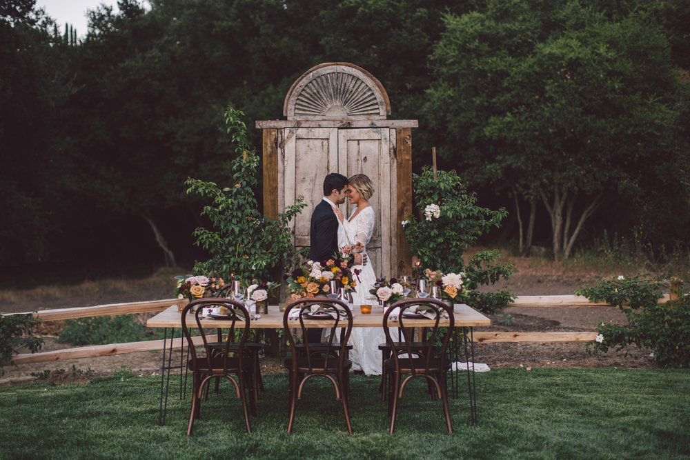 romantic-dinner-farm to table-stonewall ranch-malibu-wedding-photographer-evangeline lane