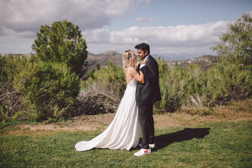 malibu wedding- boho-backyard-private estate